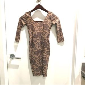 """American Apparel """"Lace"""" printed dress (S)"""